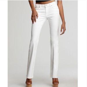 7FAMK • white bootcut jeans
